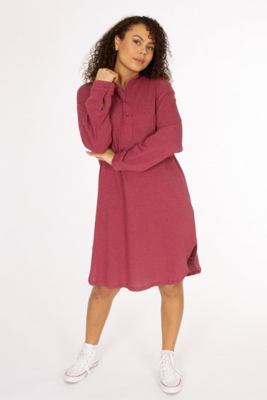 Long Shirt Linen Berry