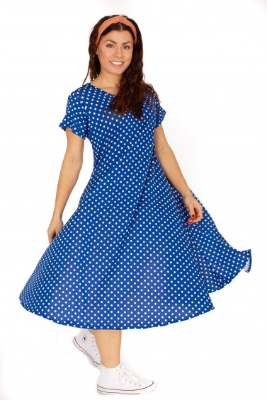 Ballerina Dot Dress Blue Base