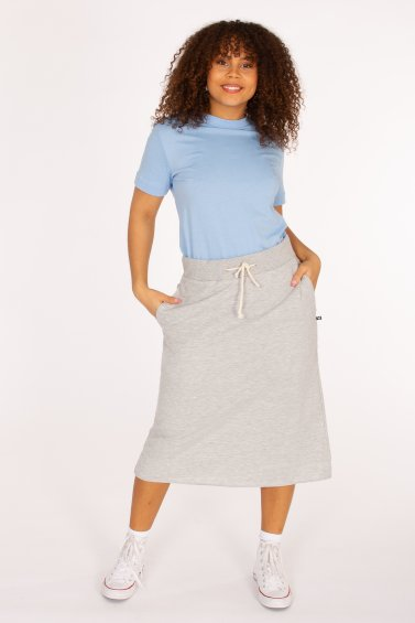 Sweat Skirt Long Lightgrey