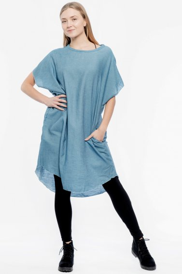 Kaftan Denim Dress Original Blue