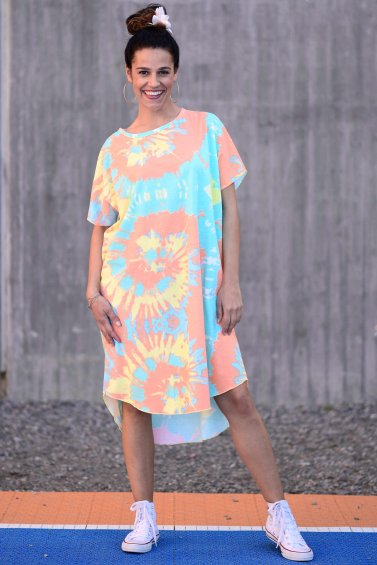 Kaftan Dress New Bright Blue Base
