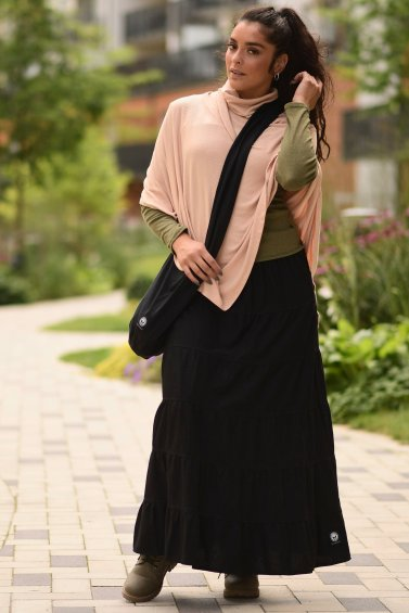 Boho Skirt Eco Black