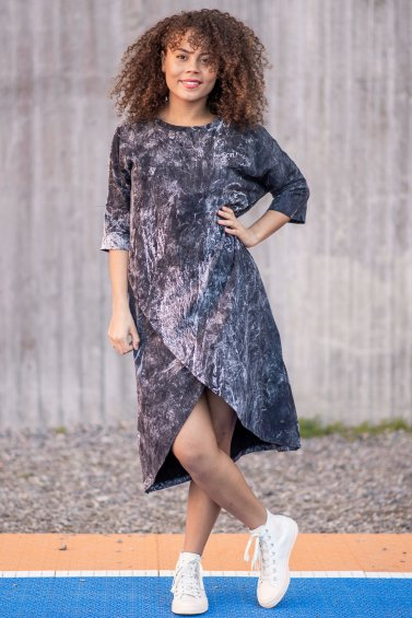 Gabby Dress Marble Black