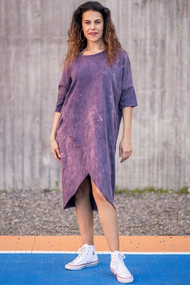 Gabby Dress Marble Lavender