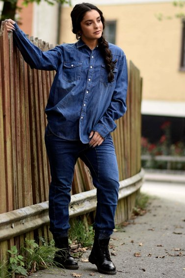 Dilan Denim Shirt Indigo Blue
