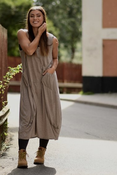 Noomi Dress Eco Cloudy Grey