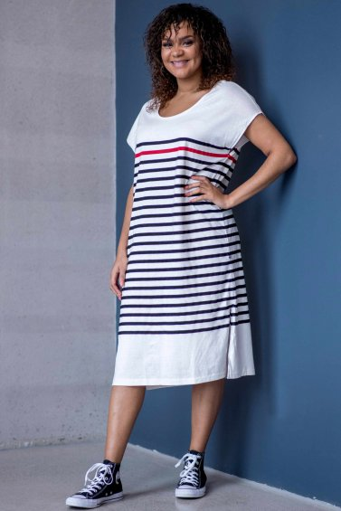 Koster Dress Black Stripe