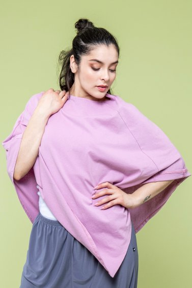 Poncho Cape Eco Old Pink