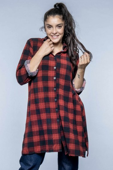 Checkered Shirt New Red Base