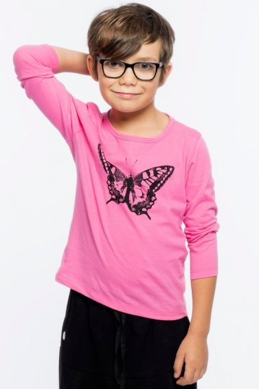 Butterfly Kids Long Sleeve Eco Pink