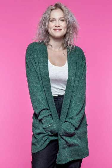 Zoe Cardigan Forest Green