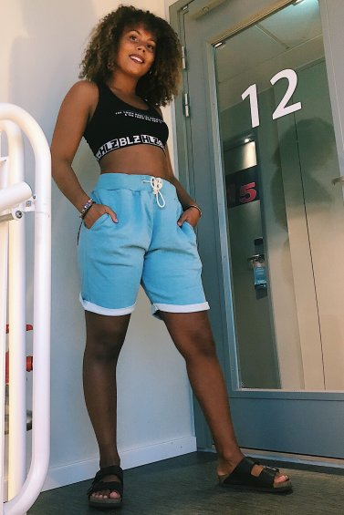 Sweat Shorts Light Blue