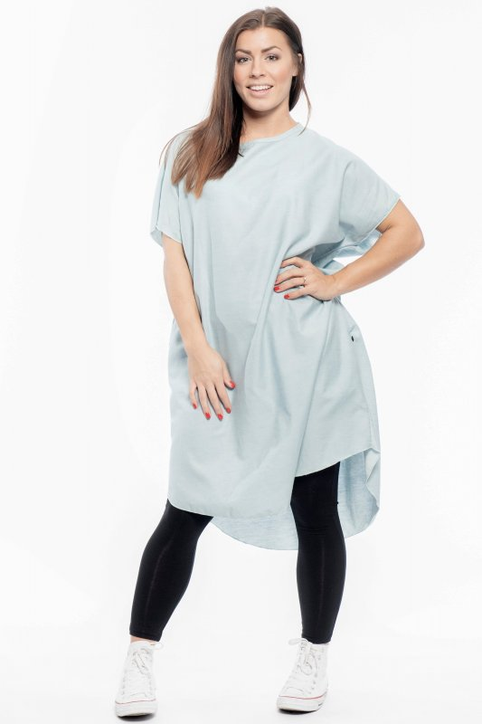 Kaftan Denim Dress Light Blue