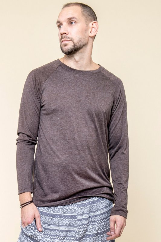 Longsleeve Eco Man Coffee