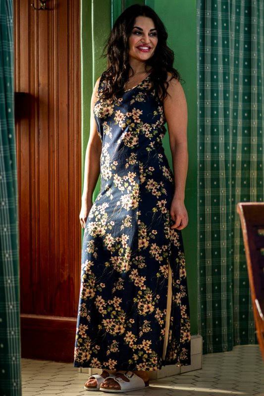 Indra Floral Dress Navy Base