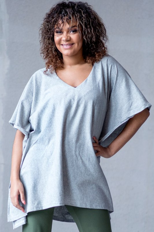 Poncho Cousco Eco Light Grey