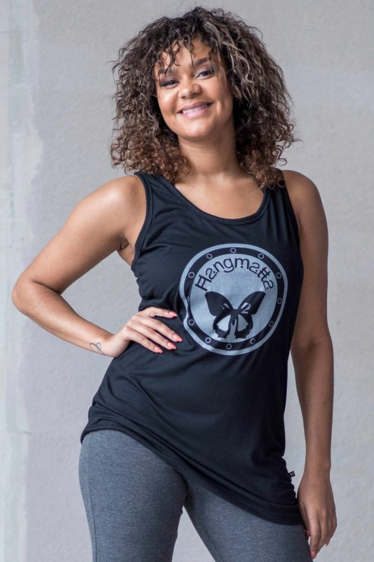 Loose Fit Top Logo Eco Black