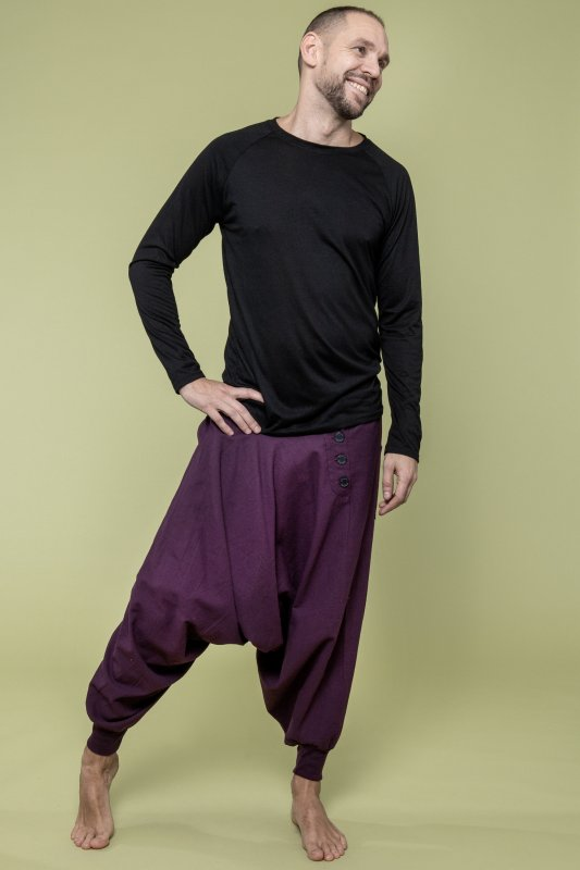 Lynx Linen Pant Man Purple