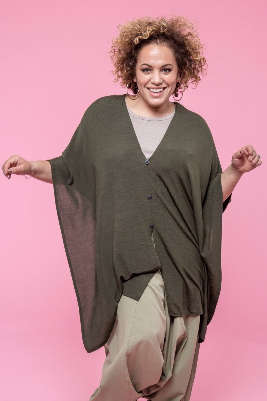 Butterfly Poncho Forest Green