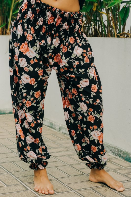 Marrakech Baggy Black Floral