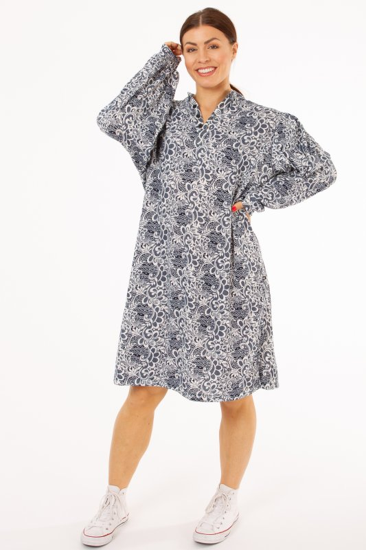 Nago Shirt Dress Blue