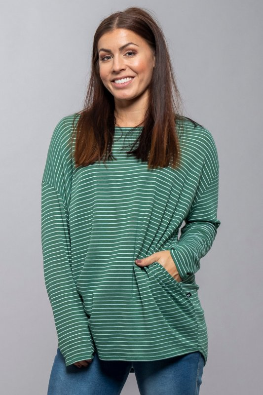 Yxlan Shirt Green Stripe